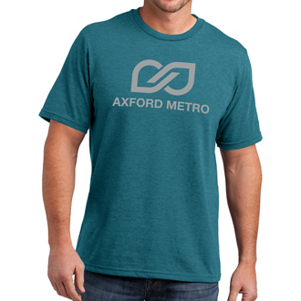 Customized District Made®-Mens Perfect Blend® Crew Tee-Colors
