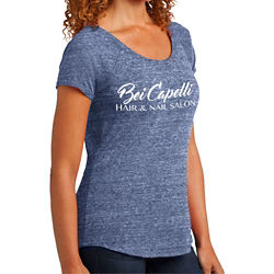 Customized District Made® Ladies' Tri-Blend Scoop Tee