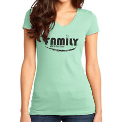 Customized District® Juniors Very Important Tee V-Neck -CLS