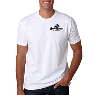 Customized Next Level™ Premium Fitted Short-Sleeve Crew Wht