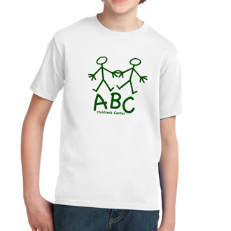 Customized Port & Co® Cotton Youth Essential T-Shirt - White