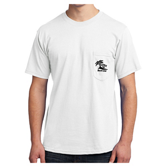 Customized Port & Company® All-American Tee with Pocket Wht