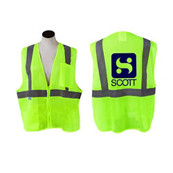 Customized Neon Yellow Safety Vest
