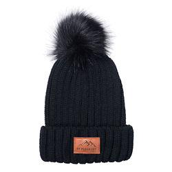 Customized Leeman™ Knit Beanie with Faux Fur Pom-Pom