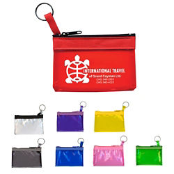 Customized Key Ring Zippered Translucent Pouch
