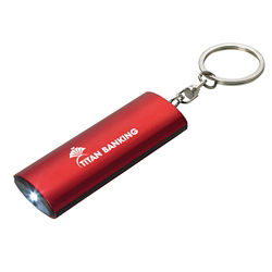 Customized Key Ring Flashlight - Batteries Included