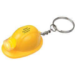 Customized Hard Hat LED Keychain