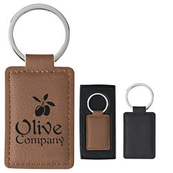 Customized Leatherette Executive Key Tag