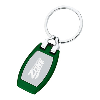 Customized Metal Key Tag w/ Matte Color Finish Body
