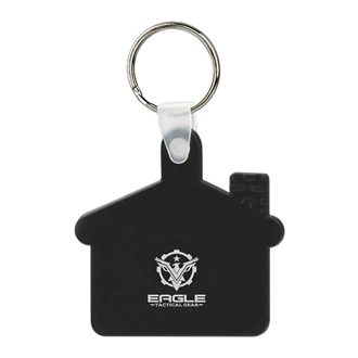 Customized Soft Squeezable Key Tag - House