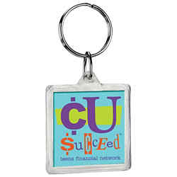 Customized Square Crystal Key Tag