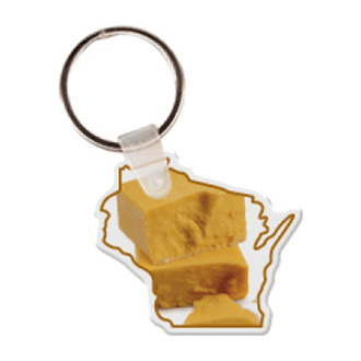 Customized Wisconsin Shape Key Tag