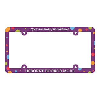 Customized Full Color License Plate Frame