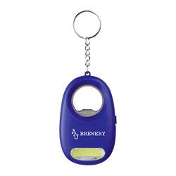 Customized COB Light Keychain With Bottle Opener
