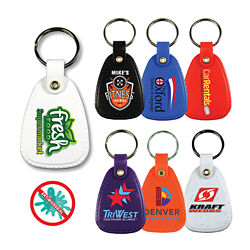 Customized Antimicrobial Western Saddle Key Tag - Full Color