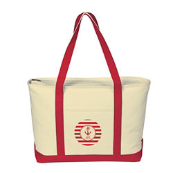 Customized Large Heavy Cotton Canvas Boat Tote