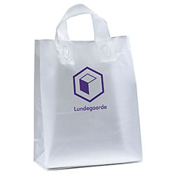 Customized 10 x 13 Ink Frosted Shopper Bags