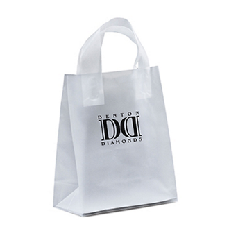 Customized 8 x 10 Ink Frosted Shopper Bags