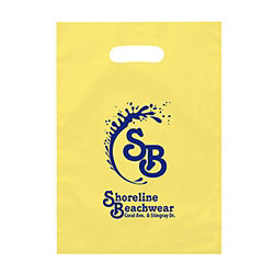Customized Aster Frosted Brite Die Cut Bags