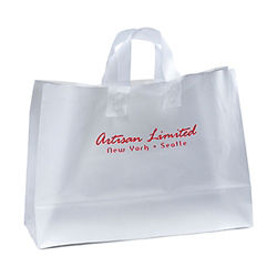Customized 16 x 12 Ink Frosted Shopper Bags