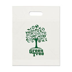 Customized Eco Die Cut Handle Bags -12 x 15