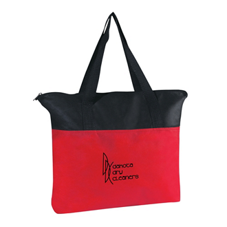 Customized Non-Woven Zippered Tote Bag