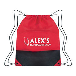 Customized Non-Woven Two-Tone Drawstring Sports Pack