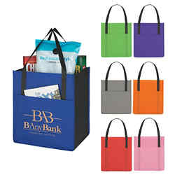 Customized Non -Woven Shopper's Pocket Tote Bag