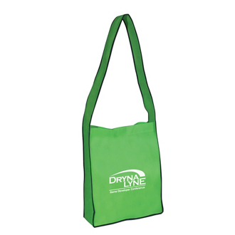 Customized Non-Woven Messenger Tote with Velcro® Closure