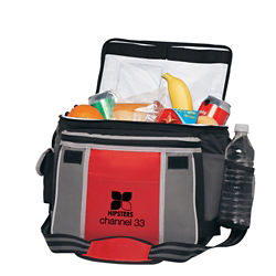 Customized Two-Tone Flip-Top Cooler Bag