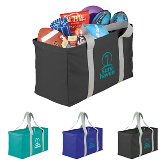 Customized Cheveron Oversized Carry-All Utility Tote