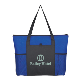 Customized Non-Woven Voyager Zippered Tote Bag