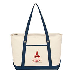 Customized Large Cotton Canvas Sailing Tote