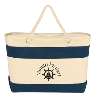 Customized Large Cruising Tote with Rope Handles