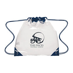 Customized Touchdown Clear Drawstring Backpack