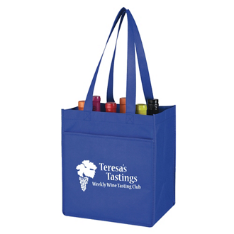 Customized Non-Woven 6 Bottle Wine Tote