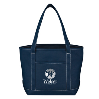 Customized Medium Cotton Canvas Yacht Tote