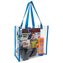 Customized Clear Plastic Vinyl See Through Tote Bags