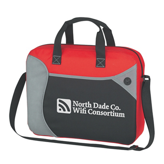 Customized Wave Briefcase/Messenger Bag