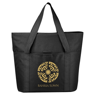 Customized The Heavy Duty Zippered Business Tote Bag