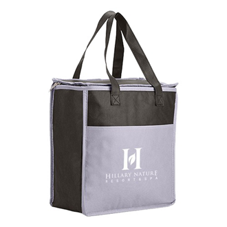 Customized Two Tone Insulated Grocery Tote