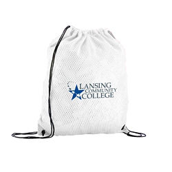 Customized Sports Jersey Mesh Drawstring Backpack