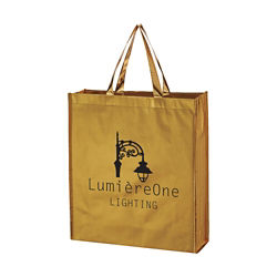 Customized Metallic Non-Woven Shopper Tote Bag