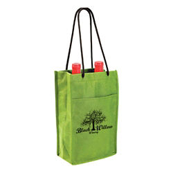 Customized Non Woven Double Bottle Wine Bag