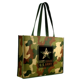 Customized Non Woven Camo Tote Bag