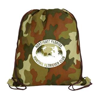 Customized Non Woven Camo Drawstring Backpack