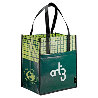 Customized Big Grocery Laminated Non-Woven Tote