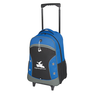 Customized World Tour Rolling Backpack