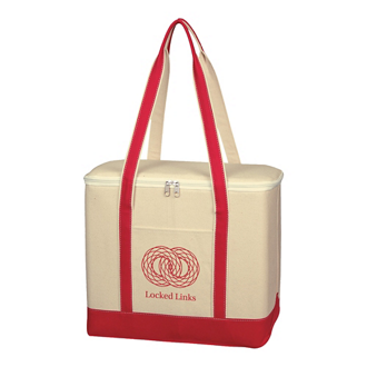 Customized Large Cotton Canvas Kooler Bag