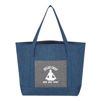 Customized Denim Effect Tote Bag